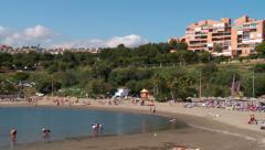 Playa del Cristo, beach, Spain Stock Footage