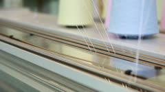 View of moving bobbins fixed thread Stock Footage