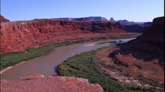 Green River pan Stock Footage