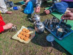 Himalayan breakfast Stock Photos