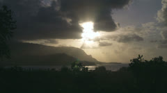 Hanalei Bay sunset Stock Footage