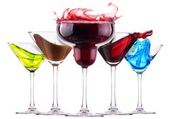 Alcoholic  cocktails  with splash Stock Photos