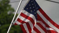 American Flag Waving in Breeze Stock Footage