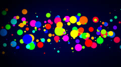 Explode of  Dots for the appearance of text or logo. Stock Footage