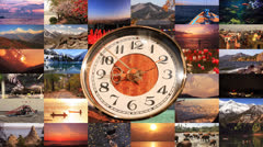 Time Life Interconnection Concept Stock Footage