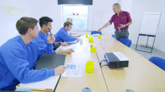 On the job training for blue collar workers or new recruits Stock Footage
