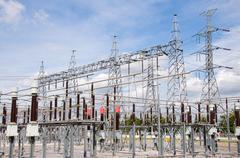 Voimalaitos tehdä sähköä Kuvituskuvat