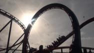 Stock Video Footage of Roller Coasters, Amusement Parks, 2D, 3D