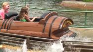 Stock Video Footage of Flume, Log Rides, Amusement Parks, Water, 2D, 3D