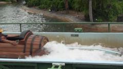 Flume, Log Rides, Amusement Parks, Water, 2D, 3D - stock footage