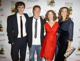 Stock Photo of laura day and her son with ryan kavanaugh and publishers.laura day's new boo