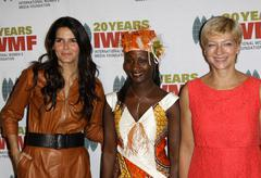 Angie harmon, agnes taile and iryna khalip.4 th annual the iwmf courage in jo Stock Photos