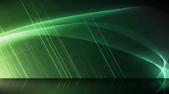 Wave Reflections Green Stock Footage