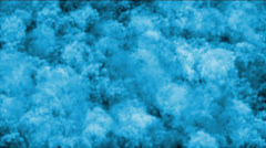 Nuclear smoke & blue cloud in darkness,military explosives smog. Stock Footage