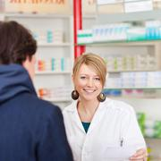 pharmacist in a consultation - stock photo