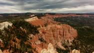Stock Video Footage of Bryce Canyon 12 Hoodoos and clouds at Rainbow Point