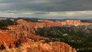 Stock Video Footage of Bryce Canyon 13 Hoodoos and clouds at Rainbow Point