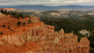 Stock Video Footage of Bryce Canyon 15 Hoodoos and clouds at Ponderosa Canyon