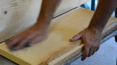 Sanding wood Stock Footage