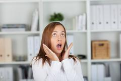 Shocked businesswoman in formals Stock Photos