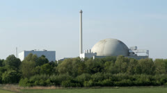 Nuclear power station Unterweser Stock Footage