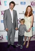 Anne heche and boyfriend james tupper and son.kooza, the big top touring show Stock Photos