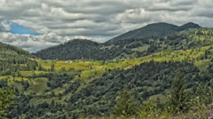 The movement of clouds high in the Carpathian Mountains (Timelapse) HDR - stock footage