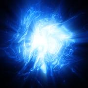 Shining blue plasma background Stock Illustration