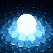 Shining 3d glass background Stock Illustration