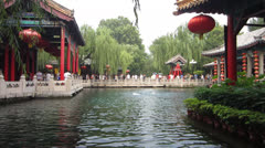 Chinese Springs in Park Stock Footage