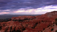 Stock Video Footage of Bryce Canyon 21 Hoodoos and clouds at Sunset Point
