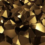 Stock Illustration of golden crystals