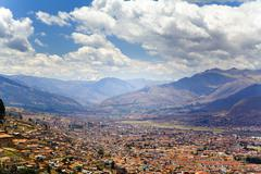 Cusco overlook Stock Photos