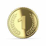 Stock Illustration of 3d golden medal