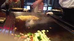 Japanese Steakhouse 8 Stock Footage