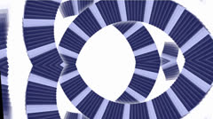 Square card papers math geometry array,spiral stairs tunnel hole Stock Footage
