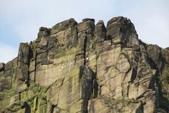 Close up of the climbing destination, the Roaches, Staffordshire - stock photo