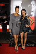 "sanaa lathan and regina hall.premiere screening of overture films' ""law abidi - stock photo"