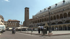 Padua, Piazza delle Frutti, Italy Stock Footage