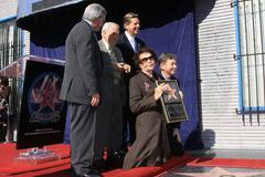 Leslie caron honored with star on hollywood walk of fame. Stock Photos