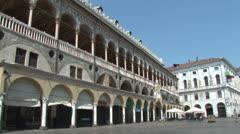 Padua, Piazza delle Erbe, Italy Stock Footage