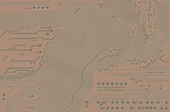 Printed circuit Stock Illustration