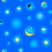 Pattern with weather Stock Illustration