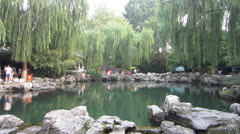 Calm Lake - Park in China Stock Footage