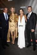 designer lloyd klein with his muse, kathy ireland and guest .fashion group in - stock photo