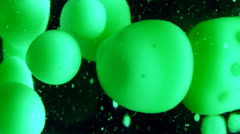 closeup of green and black lava lamp - stock footage