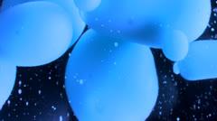 blue lava lamp closeup - stock footage