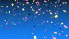 Colorful confetti falling Stock Footage