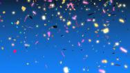 Stock Video Footage of colorful confetti falling