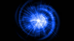 Blue vortex space tunnel hole & rotation energy rays light. Stock Footage